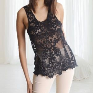Tops - Lace Sheer Tank-Top